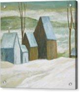 Pond Farm In Winter Acrylic Print
