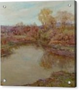 Pond In Early Autumn Acrylic Print