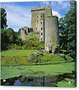 Pond In Front Of A Castle, Blarney Acrylic Print