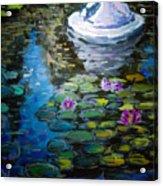 Pond In Monet Garden Acrylic Print