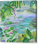 Pond In The Morning Acrylic Print
