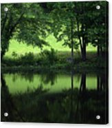 Pond Reflect Acrylic Print