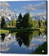 Pond Reflection At Schwabacher Landing Acrylic Print