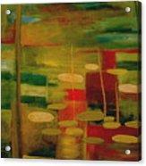Pond Reflections Acrylic Print by Jun Jamosmos