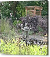Pond Statue Acrylic Print