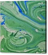 Pond Swirl 1 Acrylic Print