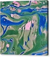 Pond Swirl 2 Acrylic Print