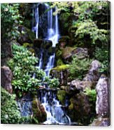 Pond Waterfall Acrylic Print