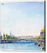 Pont Alexandre IIi Or Alexander The Third Bridge Over The River Seine In Paris France Acrylic Print