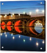 Pont Neuf In Toulouse Acrylic Print