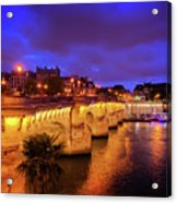 Pont Neuf At Night Acrylic Print
