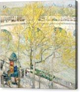 Pont Royal Paris Acrylic Print by Childe Hassam