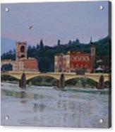 Ponte Vecchio Landscape Acrylic Print