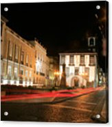 Ponta Delgada At Night Acrylic Print