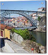 Ponte Luiz I Between Porto And Gaia In Portugal Acrylic Print