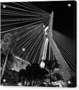 Ponte Octavio Frias De Oliveira At Night - Sao Paulo, Brazil Acrylic Print
