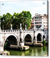 Ponte Saint' Angelo, Rome Acrylic Print