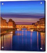 Ponte Vecchio Nigth Panorama Acrylic Print