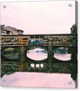 Ponte Vecchio Sunset Photograph Acrylic Print