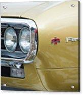 Pontiac Firebird Gold 1967 Acrylic Print