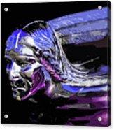 Pontiac Indian Head Hood Ornament Acrylic Print