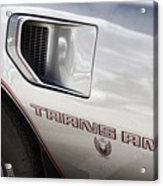 Pontiac Trans Am Limited Edition Acrylic Print