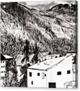 Pontresina Black And White Acrylic Print