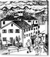 Pontresina Switzerland Acrylic Print