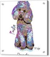Poodle Pop Art Acrylic Print