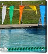 Pool Side  Acrylic Print