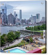 Pool With A View, Brooklyn, New York #130706 Acrylic Print