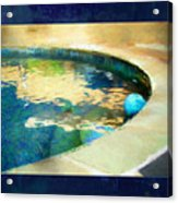 Pool With Blue Ball Acrylic Print