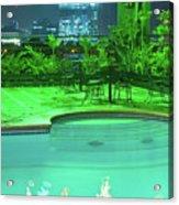 Pool With City Lights Acrylic Print