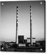 Poolbeg Power Station Dublin Port Ireland Eire Acrylic Print
