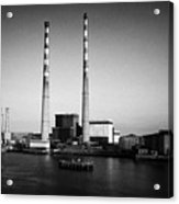 Poolbeg Power Station Dublin Port Ireland Acrylic Print