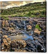 Pools And Waterfalls Acrylic Print