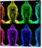 Pop Art Buddha  Acrylic Print by Fabrizio Troiani