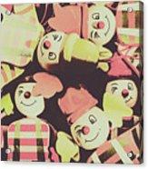 Pop Art Clown Circus Acrylic Print