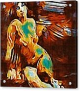 Pop Art Female Study 1d Acrylic Print