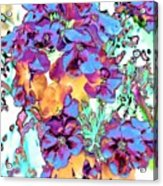 Pop Art Pansies Acrylic Print