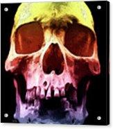 Pop Art Skull Face Acrylic Print