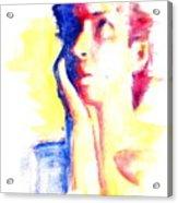 Pop Art Woman Portrait Acrylic Print