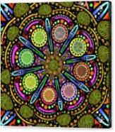 Pop Mandala Golden Acrylic Print