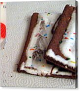 Pop Tarts And Milk Acrylic Print
