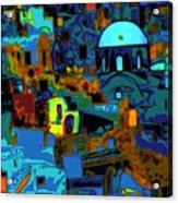 Popart Santorini Acrylic Print