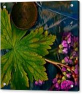 Popart With Fantasy Flowers Acrylic Print