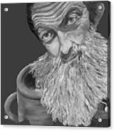 Popcorn Sutton Black And White Transparent - T-shirts Acrylic Print