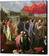 Pope Clement Xi In A Procession In St. Peter's Square In Rome Acrylic Print