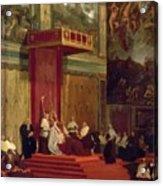Pope Pius Vii Luigi Barnaba Chiaramonti Attending Chapel 1820 Acrylic Print