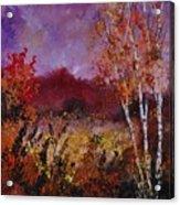 Poplars In Autumn  Acrylic Print